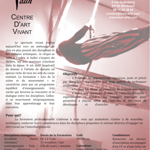 «Arts de la Scène et du Mouvement» 2018-2019