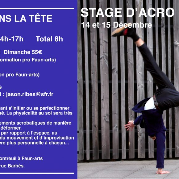 Stage d'Acro Mouvement – Jason RIBES