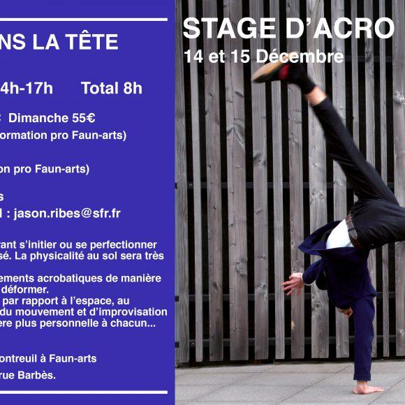 Stage d'Acro Mouvement – Jason RIBES