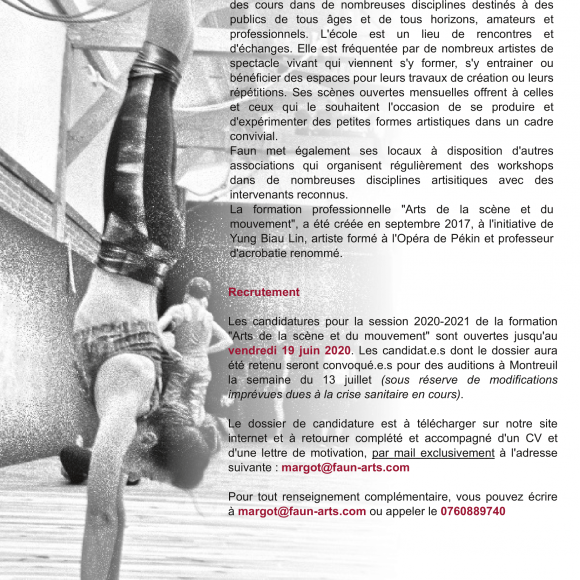 Candidatures formation professionnelle 2020-2021